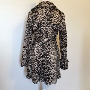 Forever 21 Jackets & Coats - Forever 21 Leopard Print Double Breasted Trench Ct